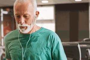 An Old Man Doing Cardio